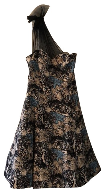Preload https://item4.tradesy.com/images/plenty-by-tracy-reese-black-and-blue-multi-mid-length-formal-dress-size-4-s-23334763-0-1.jpg?width=400&height=650