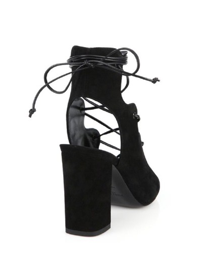 Saint Laurent Lace-up Sl Sl Babies Black Sandals
