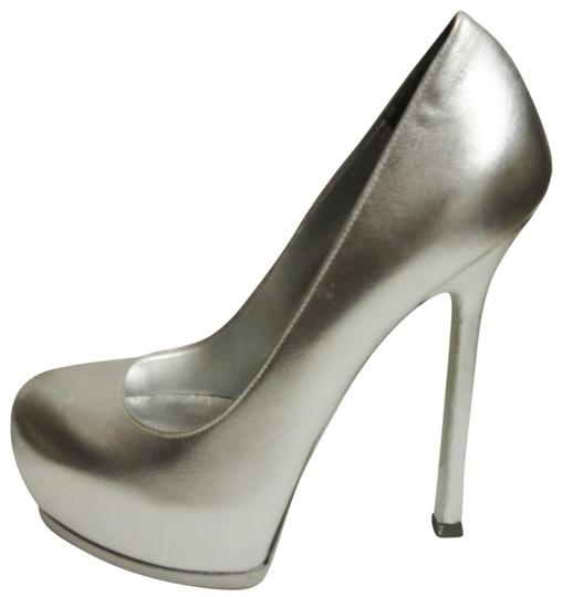 Saint Laurent Ysl silver Pumps