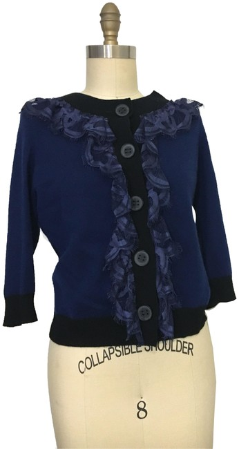 Preload https://item3.tradesy.com/images/robert-rodriguez-navy-lace-trimmed-cashmere-cardigan-size-2-xs-23334782-0-2.jpg?width=400&height=650