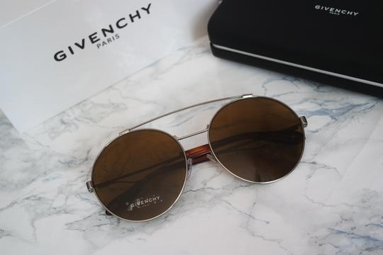 Givenchy NEW Givenchy Sunglasses Gv 7048/S Silver Brown Round Aviator