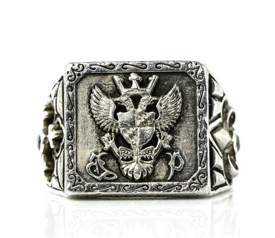 Preload https://item3.tradesy.com/images/-silver-coat-of-arms-embossed-sterling-925-ring-23334812-0-0.jpg?width=440&height=440