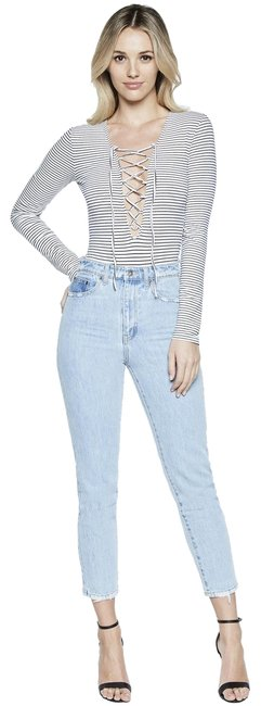 Preload https://item5.tradesy.com/images/bardot-bluewhite-lace-up-striped-tee-shirt-size-8-m-23334814-0-1.jpg?width=400&height=650