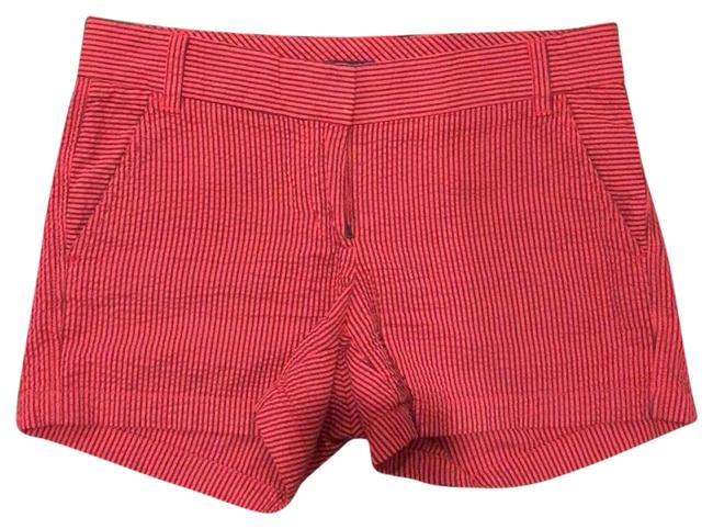 J.Crew Mini/Short Shorts red and navy