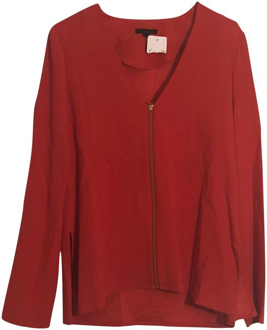 Preload https://img-static.tradesy.com/item/23334826/rachel-zoe-red-zip-up-front-blouse-size-2-xs-0-1-650-650.jpg