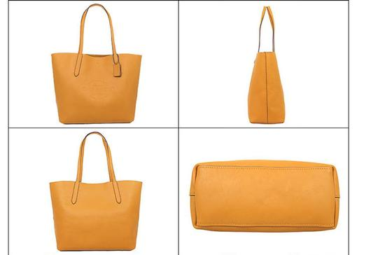Coach Tote in mustard yellow