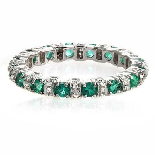 Preload https://img-static.tradesy.com/item/23334845/18k-white-gold-032-ct-diamonds-and-089-emerald-wedding-band-ring-0-0-540-540.jpg