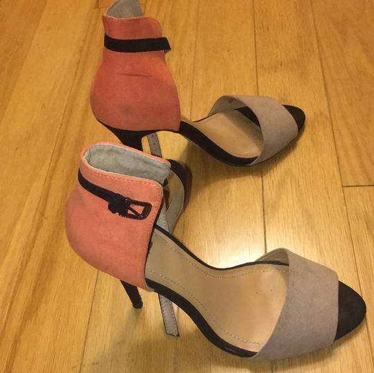 Zara black orange tan Pumps