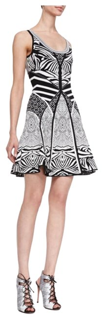 Preload https://item5.tradesy.com/images/diane-von-furstenberg-black-white-fanny-fit-and-flare-mid-length-cocktail-dress-size-4-s-23334919-0-1.jpg?width=400&height=650