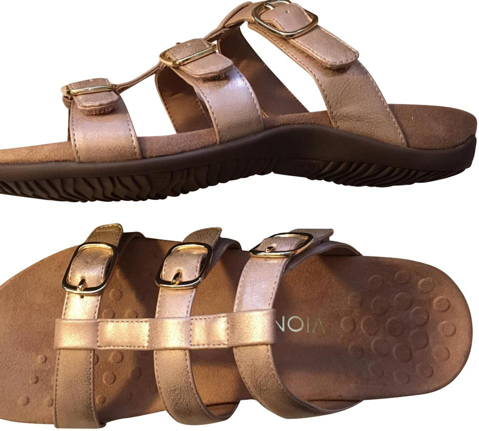 37326585ae63 Vionic Tan and Rose Gold Misa Sandals. Size  EU 43 (Approx. US 13) ...