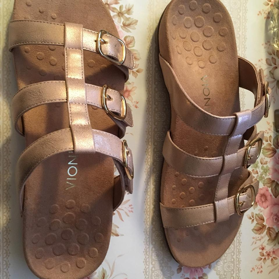 d62abfa48bba Vionic Tan and Rose Gold Misa Sandals Size EU 43 (Approx. US 13 ...