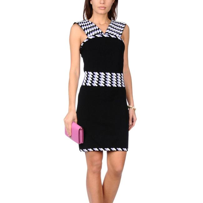 Christopher Kane short dress black/ white/ lavender on Tradesy