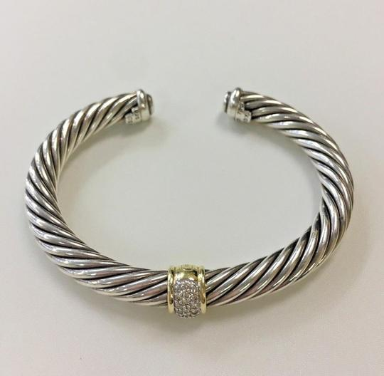 David Yurman 7mm Cable Classics Bracelet with Diamonds and Gold