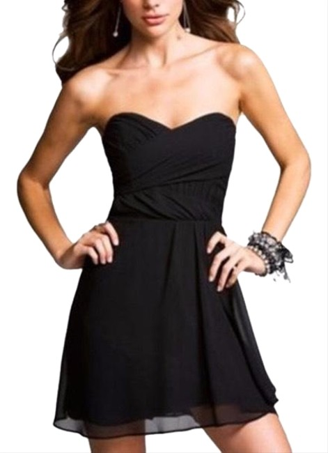 Preload https://item1.tradesy.com/images/express-black-strapless-chiffon-short-formal-dress-size-2-xs-23335065-0-1.jpg?width=400&height=650