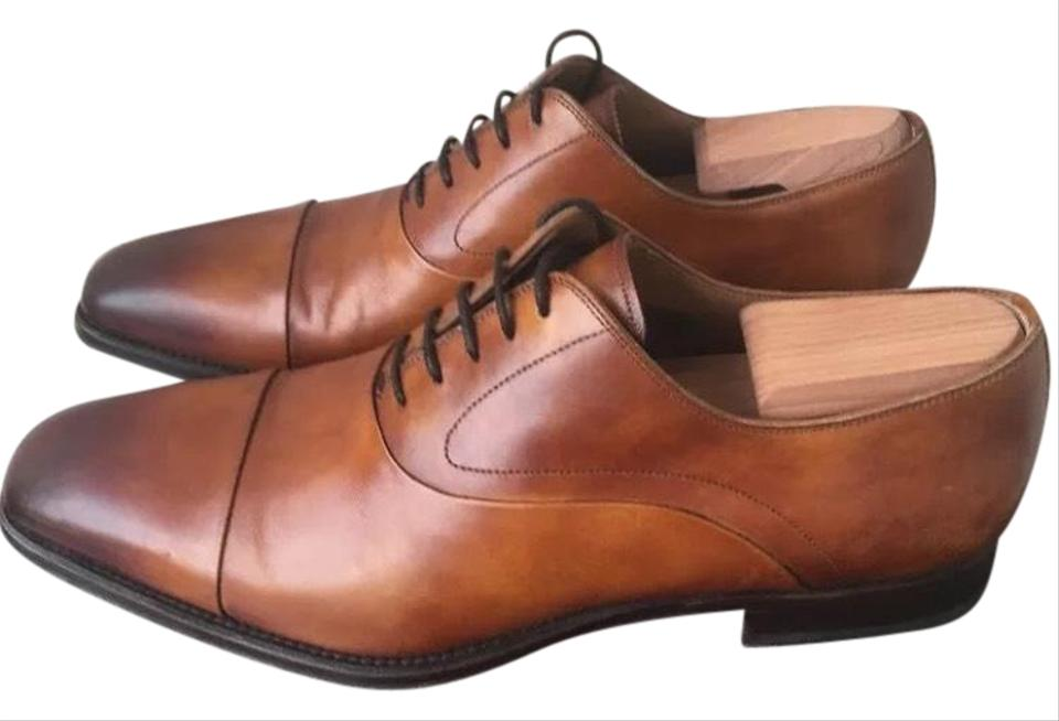 0143aeefbba Magnanni Saffron Cap Toe Oxford Cuero Brown Cognac Leather Mens Lace-up 9m  Formal Shoes