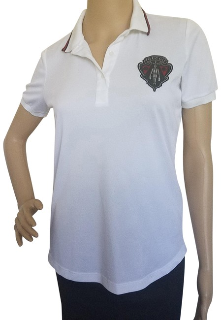 Preload https://item3.tradesy.com/images/gucci-white-red-black-ivory-equestrian-logo-printed-polo-blouse-size-4-s-23335077-0-2.jpg?width=400&height=650