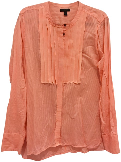 Preload https://item1.tradesy.com/images/jcrew-neon-coral-textured-cotton-stripe-with-grosgrain-ribbon-trim-button-down-top-size-16-xl-plus-0-23335165-0-1.jpg?width=400&height=650