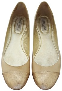 f6a5b2a4c721 Jimmy Choo Ballet Whirl Glitter Patent Leather Nude Flats