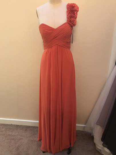 Preload https://item1.tradesy.com/images/bari-jay-coral-chiffon-and-charmeuse-225-formal-bridesmaidmob-dress-size-10-m-23335270-0-0.jpg?width=440&height=440
