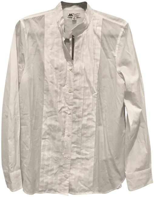 Preload https://item4.tradesy.com/images/jcrew-white-thomas-mason-classic-cotton-tuxedo-button-down-top-size-12-l-23335278-0-1.jpg?width=400&height=650
