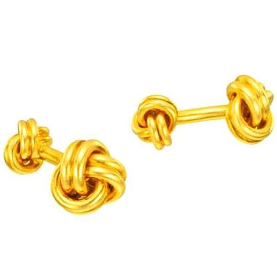 Elizabeth Jewelry 14Kt Yellow Gold Plated Knot Cufflinks