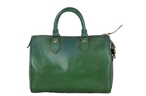 Louis Vuitton Speedy Epi Handbag Tote in Green