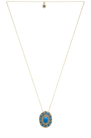 House of Harlow 1960 House of Harlow 1960 Wari Ruins Pendant Necklace Blue