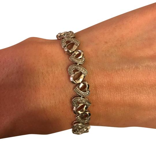 Preload https://item5.tradesy.com/images/zales-silver-stirling-diamond-alternating-hearts-bracelet-23335394-0-1.jpg?width=440&height=440
