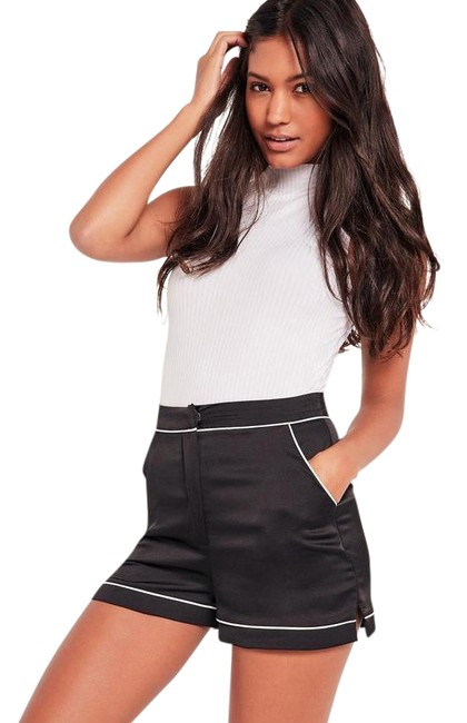 Preload https://item3.tradesy.com/images/missguided-black-silky-high-waisted-dress-shorts-size-6-s-28-23335402-0-1.jpg?width=400&height=650