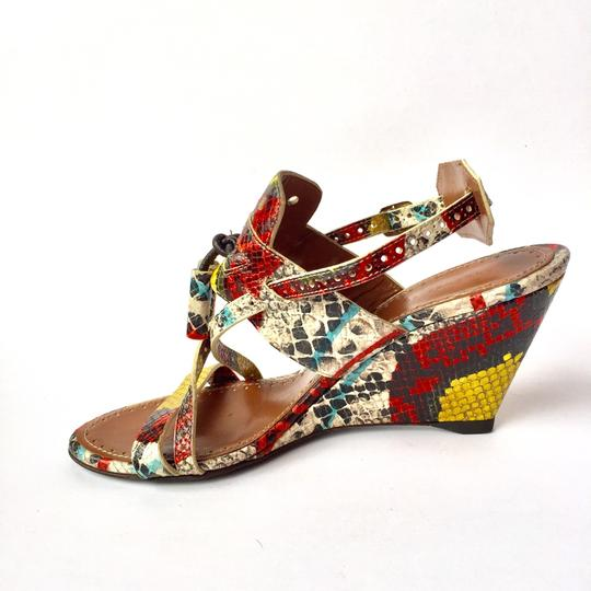 Preload https://item5.tradesy.com/images/proenza-schouler-multi-color-snakeskin-wedge-leather-sandals-size-eu-37-approx-us-7-regular-m-b-23335414-0-0.jpg?width=440&height=440