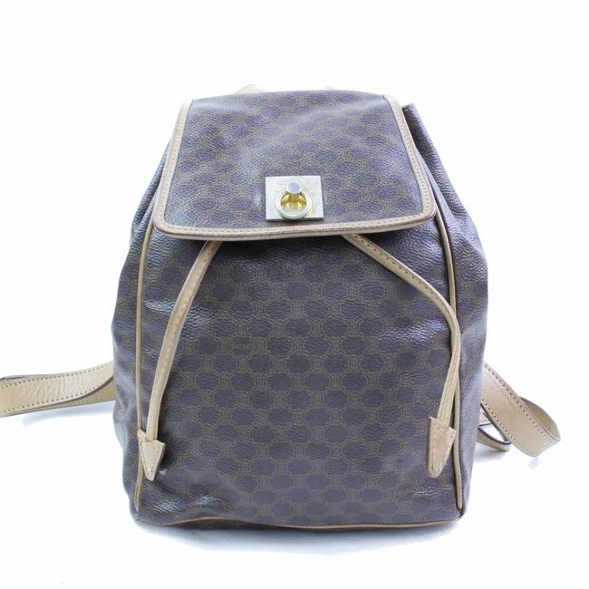 Item - Macadam Monogram 866775 Brown Coated Canvas Backpack