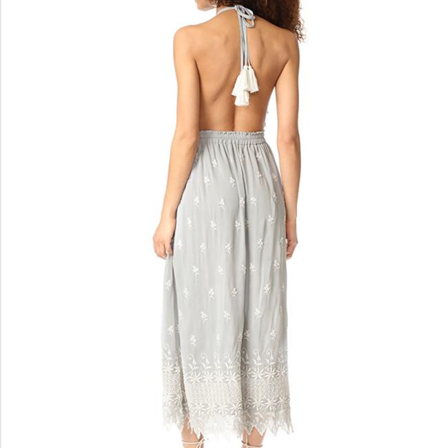 grey with white embroidered Maxi Dress by LoveShackFancy