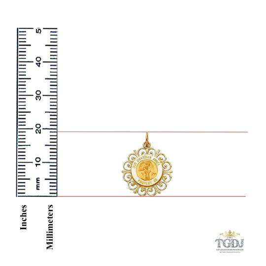 Top Gold & Diamond Jewelry 14K Yellow Gold Religious Milagrosa Pendant