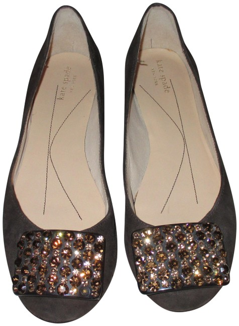 Item - Brown Kate-spade-brown-suede-leather-with-crystals-ballet-flats-6-5-m Flats Size US 6.5 Regular (M, B)