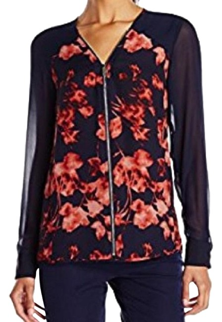 Preload https://item2.tradesy.com/images/vince-camuto-rich-sequoa-floral-print-zip-front-x-small-blouse-size-2-xs-23335491-0-1.jpg?width=400&height=650