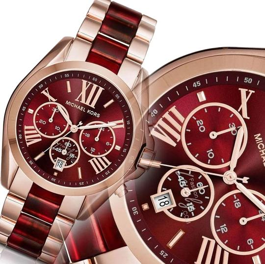 Preload https://img-static.tradesy.com/item/23335495/michael-kors-red-and-rose-gold-tone-womens-mk6270-watch-0-1-540-540.jpg