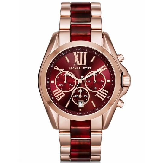 Michael Kors 100% Brand new Michael Kors Red and Rose Gold Tone Womens Watch MK6270