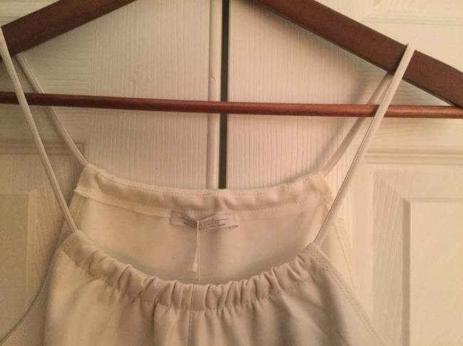 Zara Faux Leather Front Top White