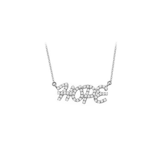 Preload https://item5.tradesy.com/images/white-silver-925-sterling-cubic-zirconia-hope-pendant-033-ct-tgw-necklace-23335499-0-0.jpg?width=440&height=440