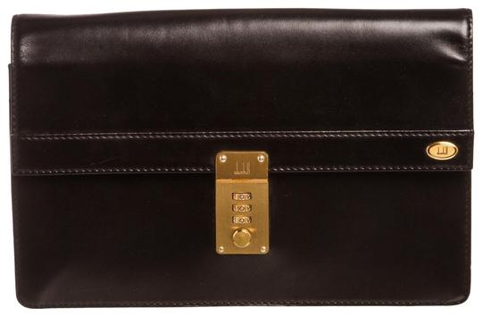 Preload https://item2.tradesy.com/images/lock-black-with-gold-leather-clutch-23335511-0-1.jpg?width=440&height=440