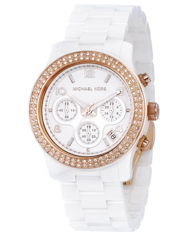 001ee3d75 Michael Kors 100% NEW MICHAEL KORS White Ceramic White Dial Ladies Watch  MK5269 Image 0 ...