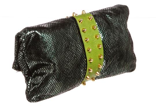 Be&D Green and Black Clutch