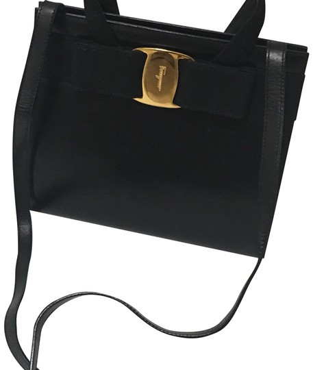 Preload https://item2.tradesy.com/images/salvatore-ferragamo-vala-ribbon-black-leather-shoulder-bag-23335561-0-1.jpg?width=440&height=440