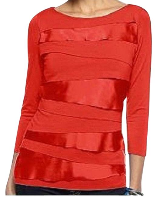 Preload https://img-static.tradesy.com/item/23335568/vince-camuto-tomato-zig-zag-34-sleeve-medium-blouse-size-8-m-0-1-650-650.jpg