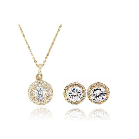 Preload https://item1.tradesy.com/images/gold-pendant-crystal-earrings-necklace-23335635-0-0.jpg?width=440&height=440