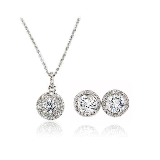 Preload https://img-static.tradesy.com/item/23335644/silver-pendant-crystal-earrings-necklace-0-0-540-540.jpg