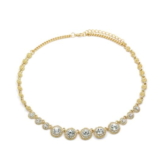 Ocean Fashion Noble gold crystal necklace