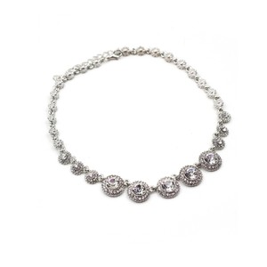 Ocean Fashion Noble silver crystal necklace