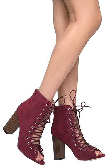 Preload https://item1.tradesy.com/images/j-adams-burgundy-suede-lace-up-peep-toe-bootsbooties-size-us-75-regular-m-b-23335665-0-1.jpg?width=440&height=440