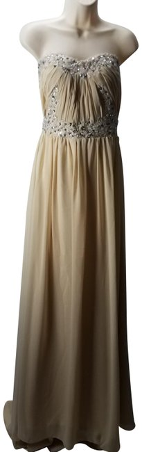 Preload https://item1.tradesy.com/images/beige-cream-tube-pleated-gown-chiffon-long-formal-dress-size-12-l-23335695-0-1.jpg?width=400&height=650